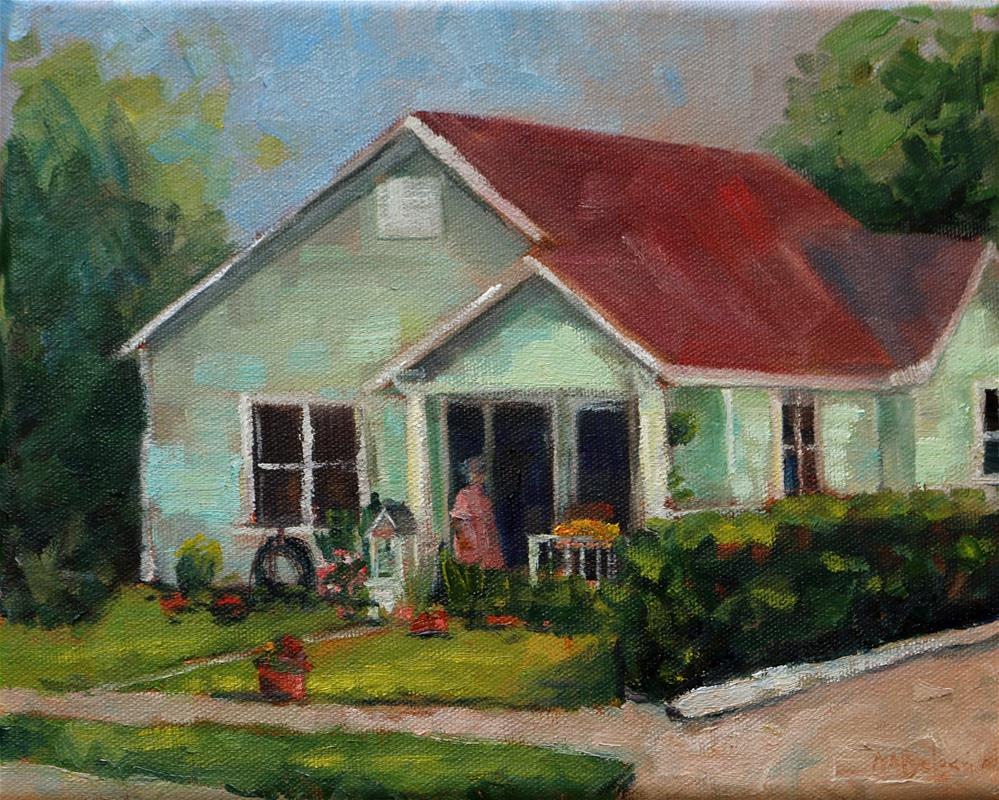"""Texas house"" original fine art by Miranda Dalessi"