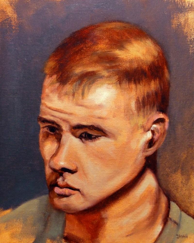"""Brandon Portrait"" original fine art by Dalan Wells"