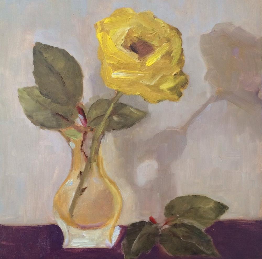 """Yellow Rose"" original fine art by Lorraine Funk"