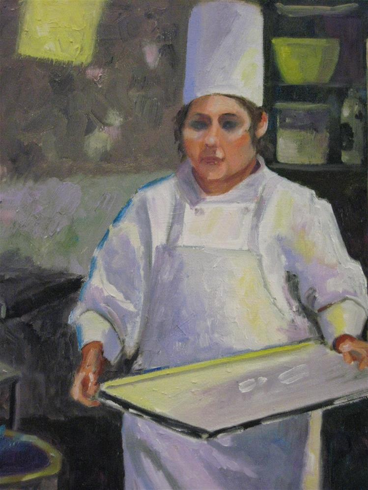 """The Chef's Apprentice"" original fine art by Judy Elias"