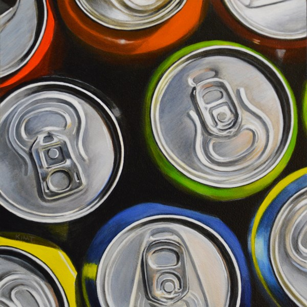 """Soda Can Study"" original fine art by Kim Testone"