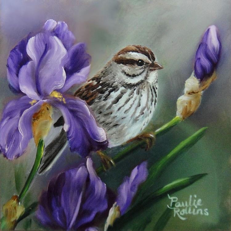 """""""Pretty in Purple"""" original fine art by Paulie Rollins"""