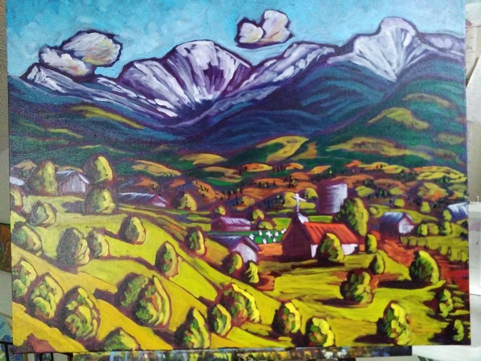 """Taos Mountain Spring"" original fine art by Robyn Wellman"