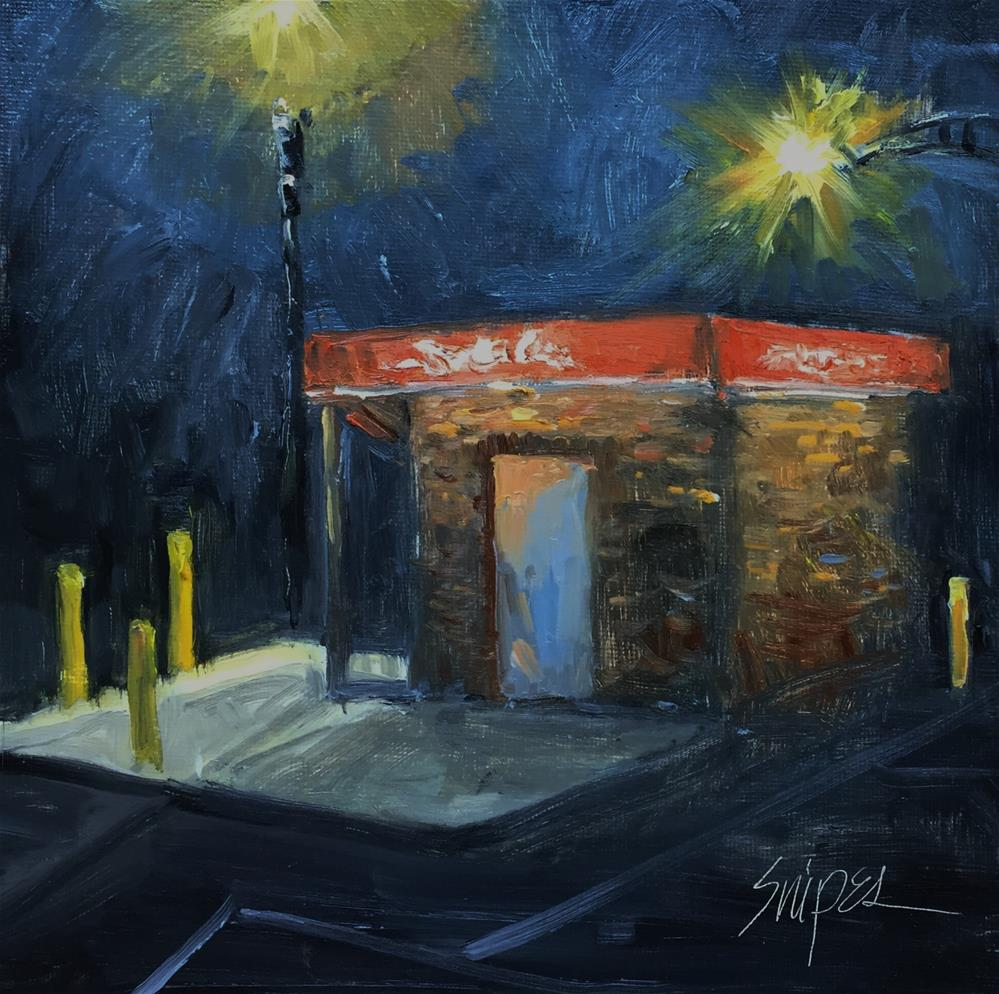 """11:00 PM"" original fine art by Connie Snipes"
