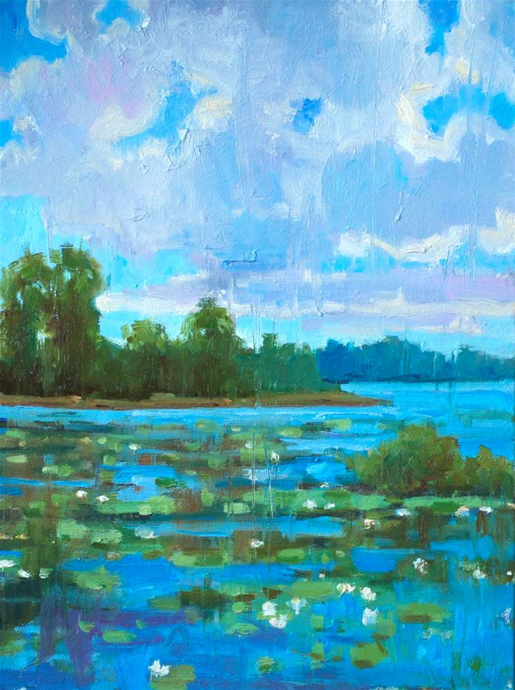 """Blooming Lake"" original fine art by Emiliya Lane"