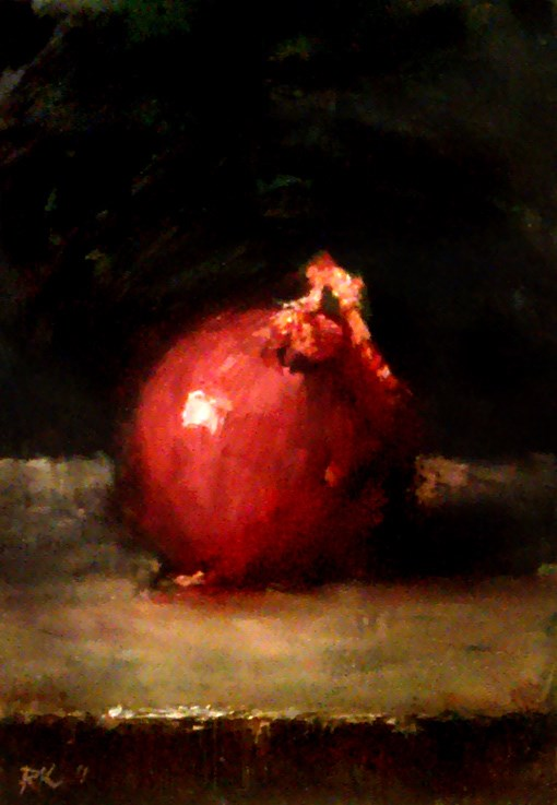 """A Red Onion"" original fine art by Bob Kimball"
