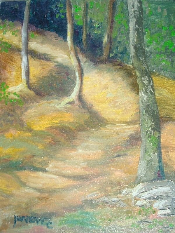 """Path at Waters Edge"" original fine art by Sue Furrow"
