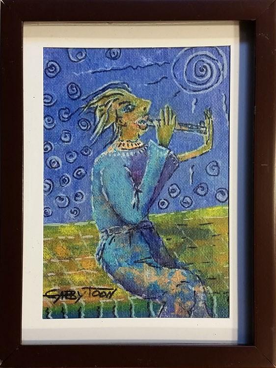"""Fluer"" original fine art by Gabriella DeLamater"