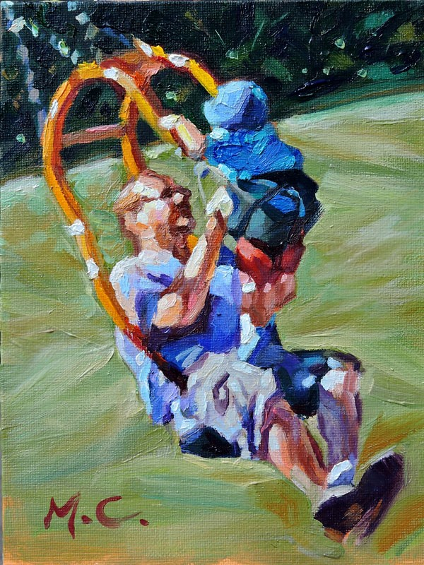 """Sweet Daddy"" original fine art by Michelle chen"