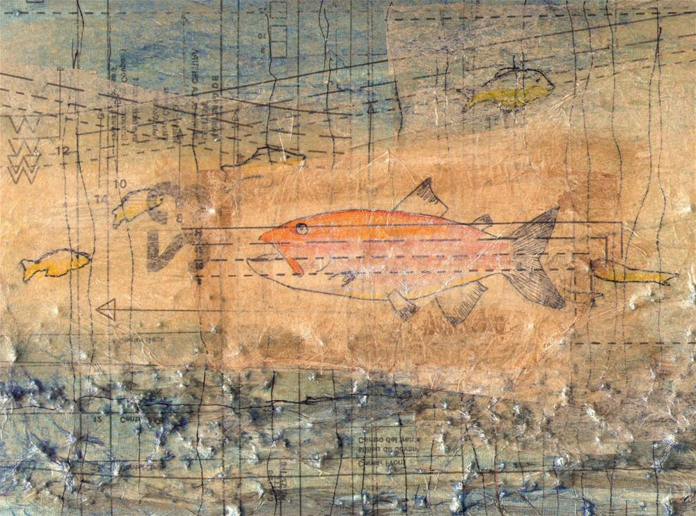 """Fish 001"" original fine art by Marie Lynch"