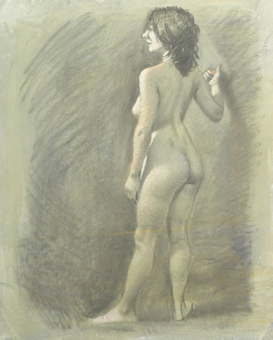 """Nude Study"" original fine art by Peter Orrock"