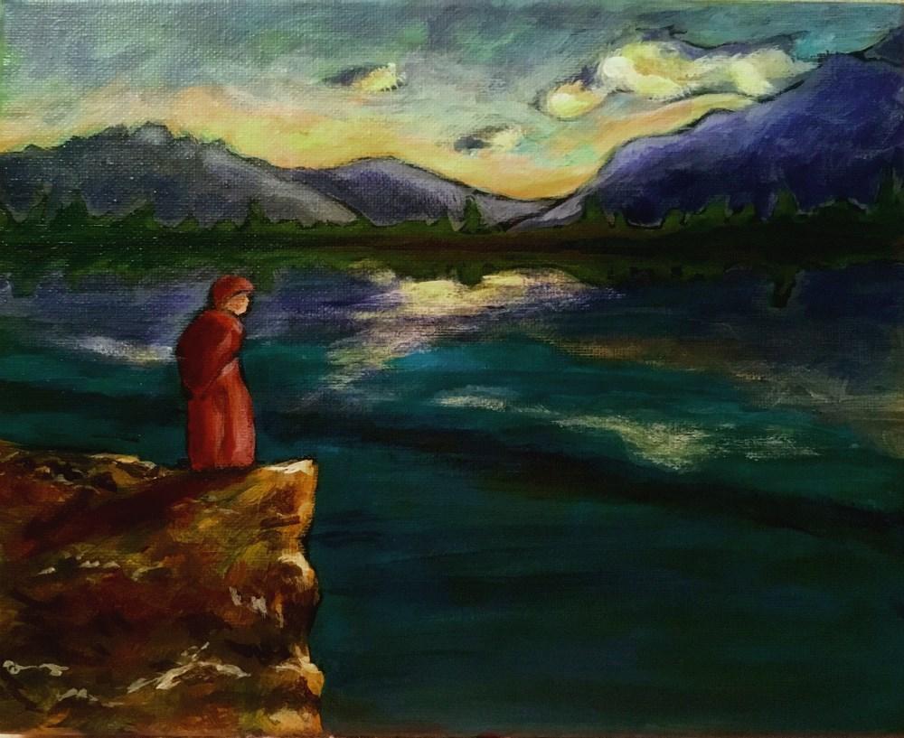 """""""Contemplative"""" original fine art by Colleen OHair"""