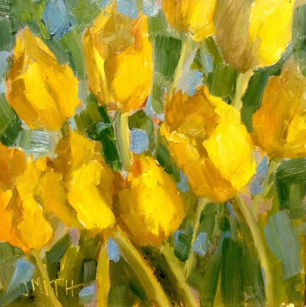 """Yellow Tulips"" original fine art by Barbie Smith"