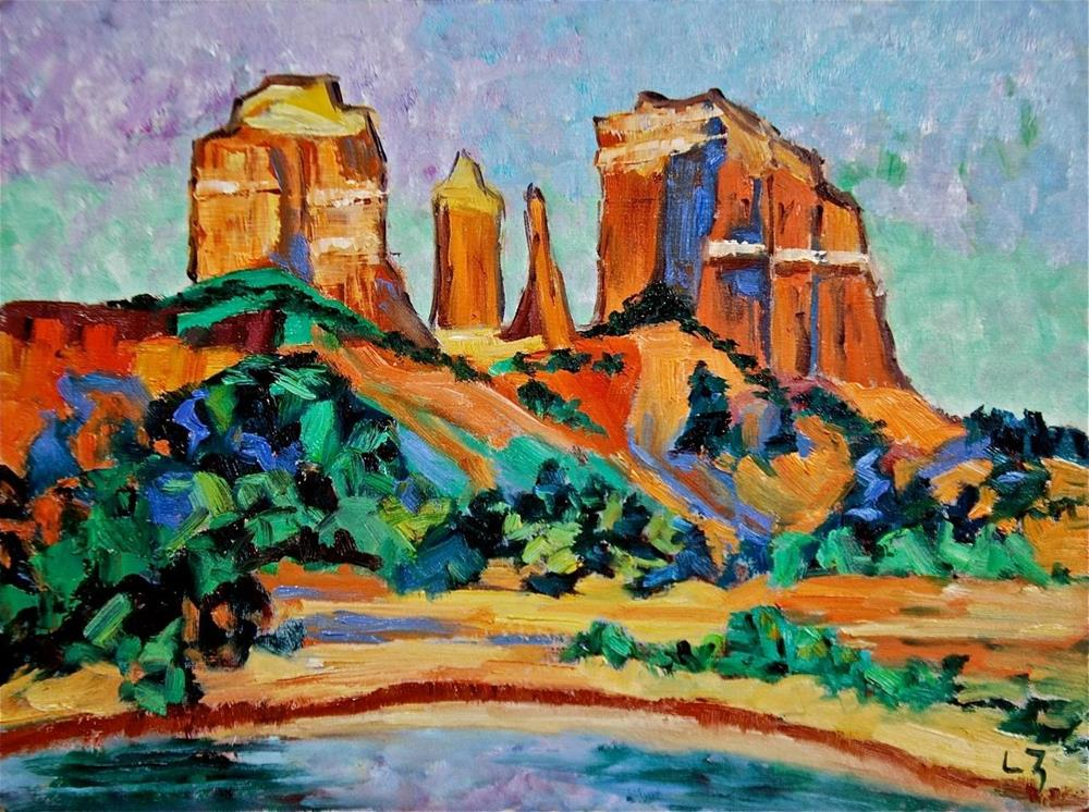 """Cathedral Rock, Sedona, Arizona"" original fine art by Liz Zornes"