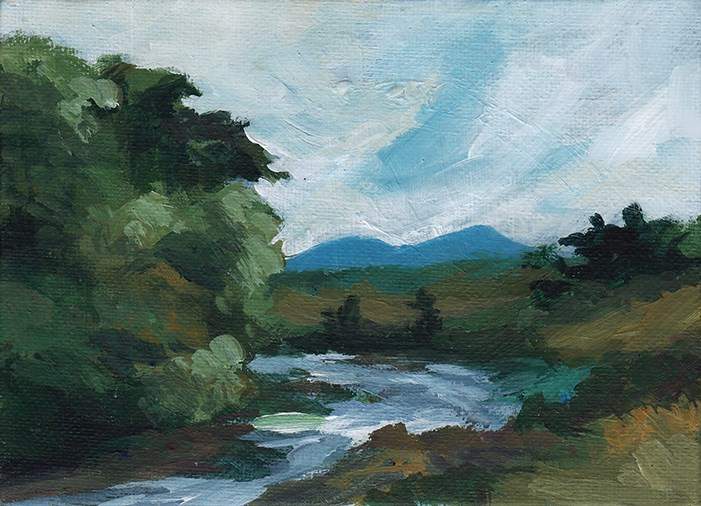 """The Erriff River"" original fine art by J M Needham"
