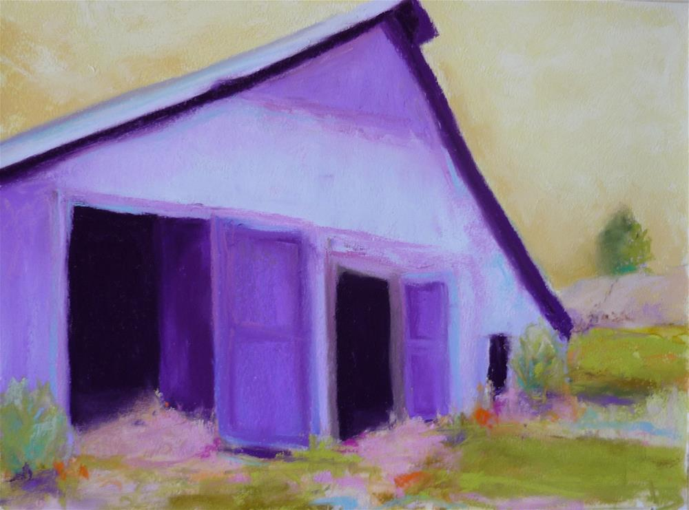 """Purple Barn"" original fine art by Sandi Miller"