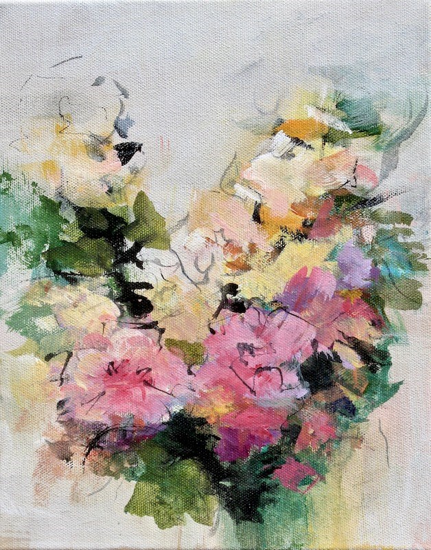 """Floral 9"" original fine art by Karen Hale"