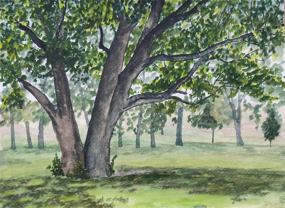 """Trees in Huffman Reserve"" original fine art by Greg Arens"