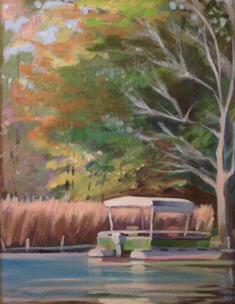"""Fall Pontoon"" original fine art by Susan Suraci"