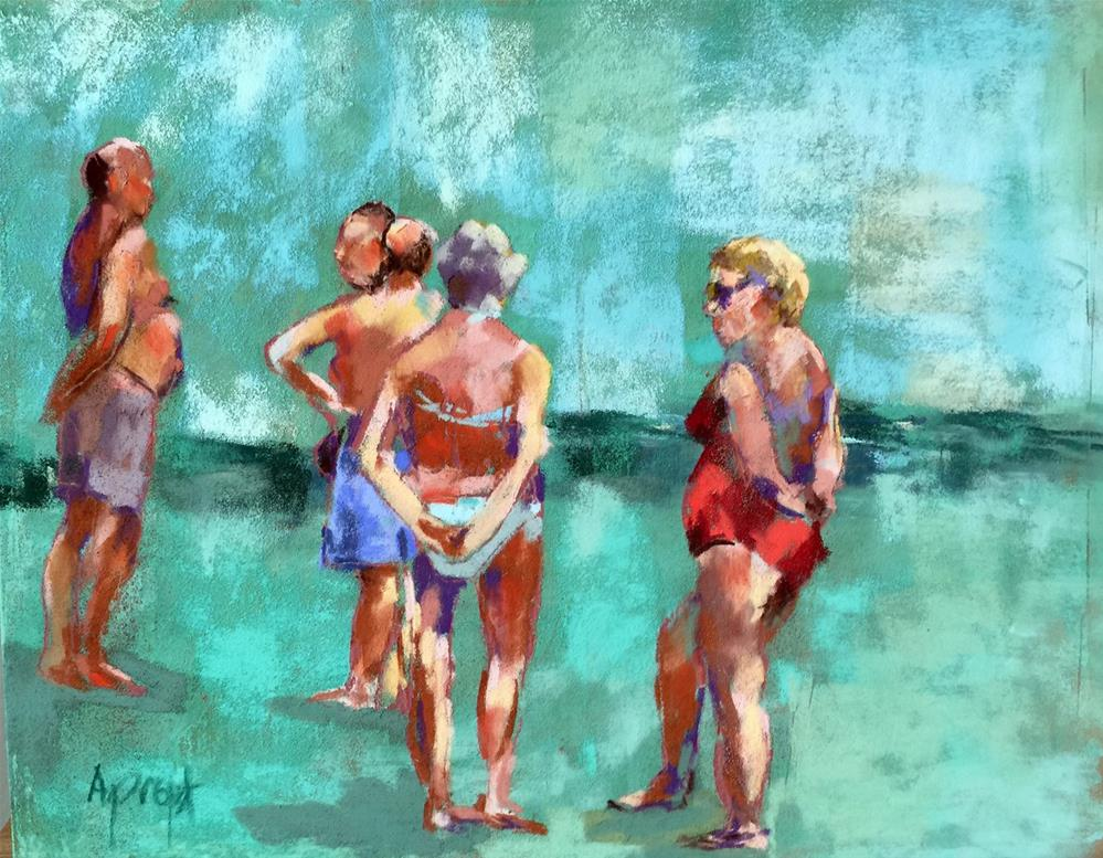 """Beach Talk"" original fine art by Anne Marie Propst"