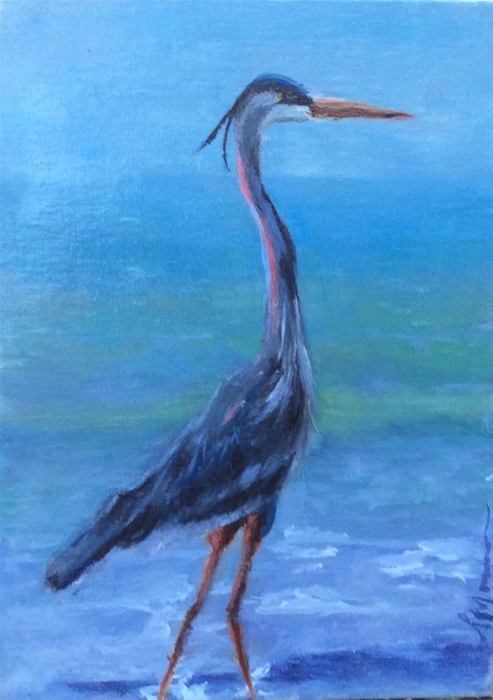 """Blue Boy"" original fine art by Susie Monzingo"