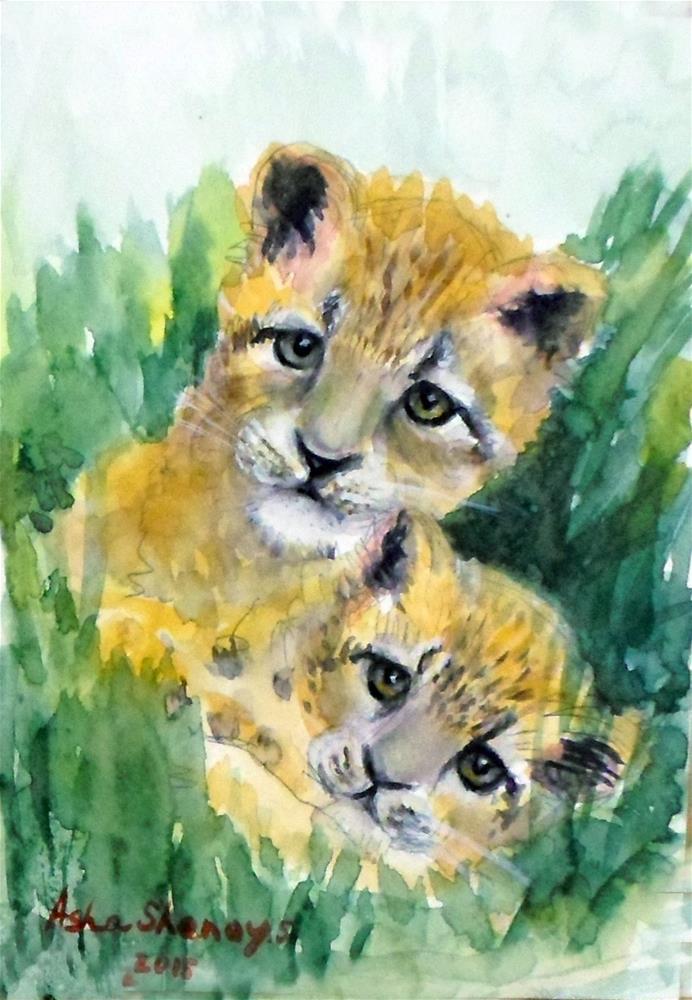 """Siblings"" original fine art by Asha Shenoy S"