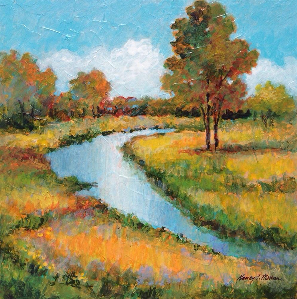 """Autumn Reflections"" original fine art by Nancy F. Morgan"