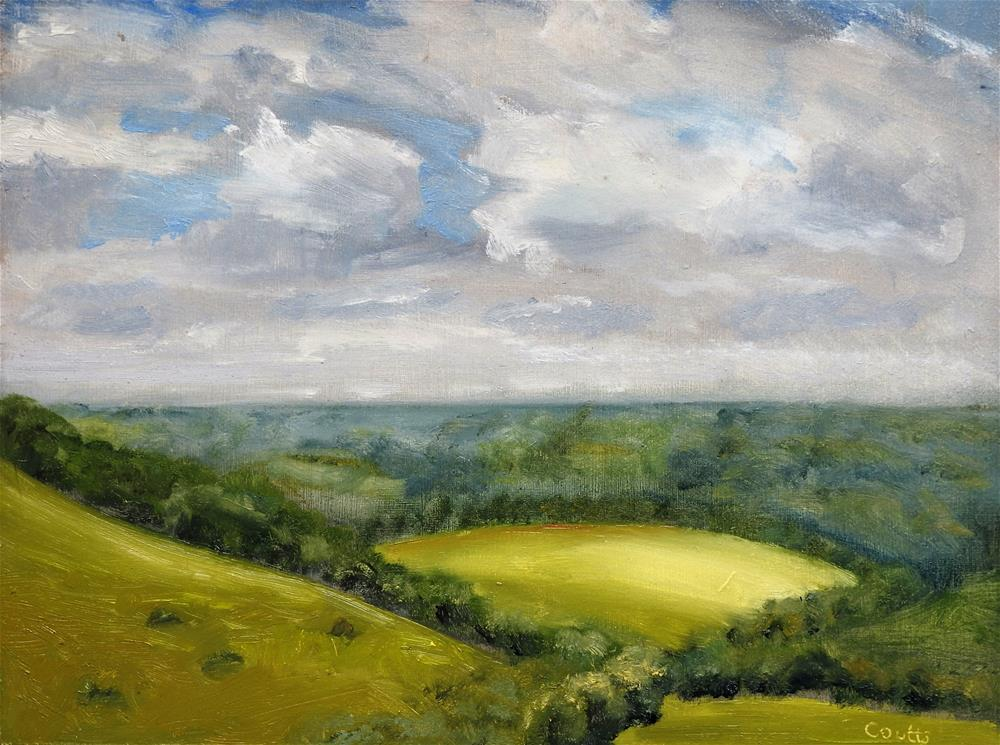 """Old Winchester Hill Summer"" original fine art by Robin Coutts"