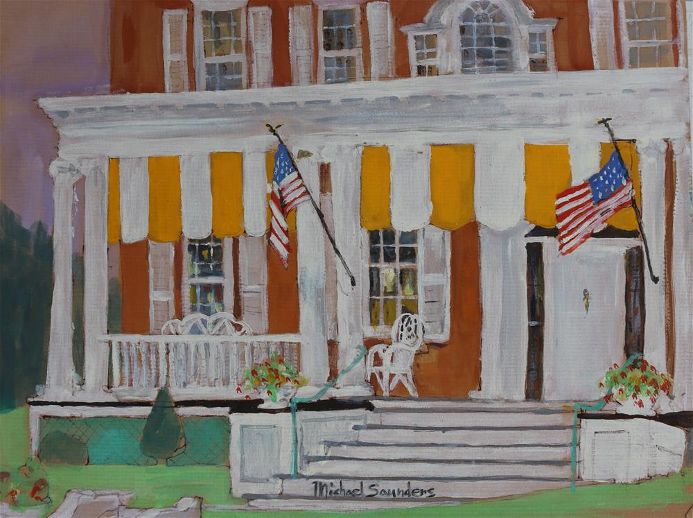"""Front Porch --Vermont"" original fine art by Michael Saunders"