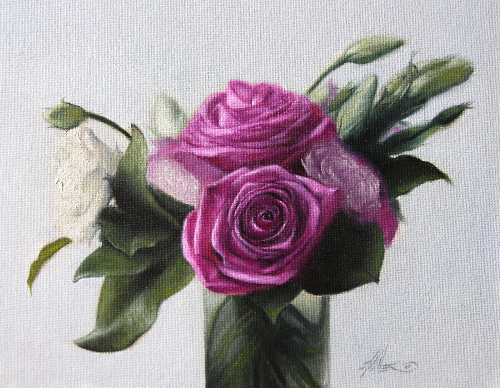 """""""Roses"""" original fine art by Jonathan Aller"""