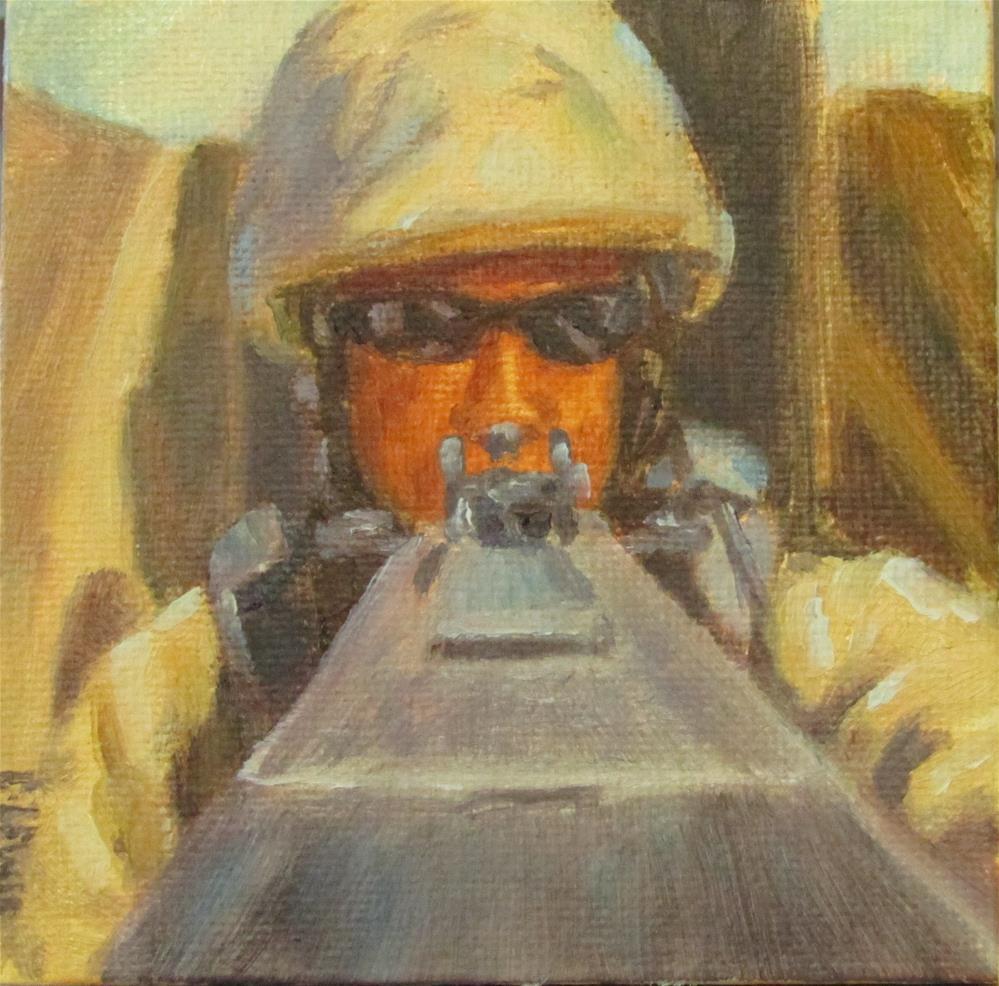 """Battle Ready"" original fine art by Christine Lewis"