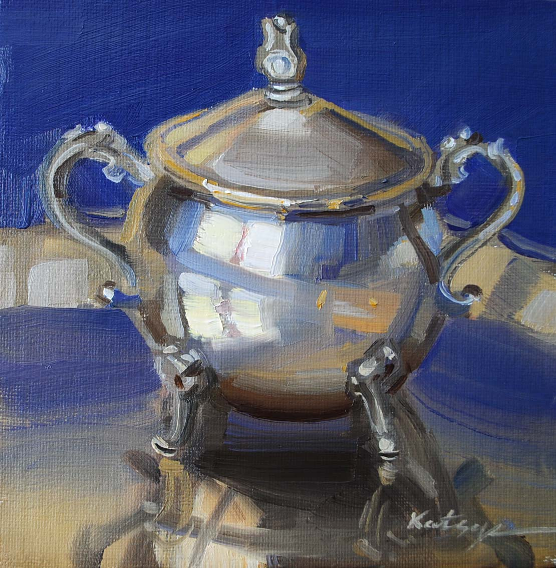"""Sugar Bowl"" original fine art by Elena Katsyura"