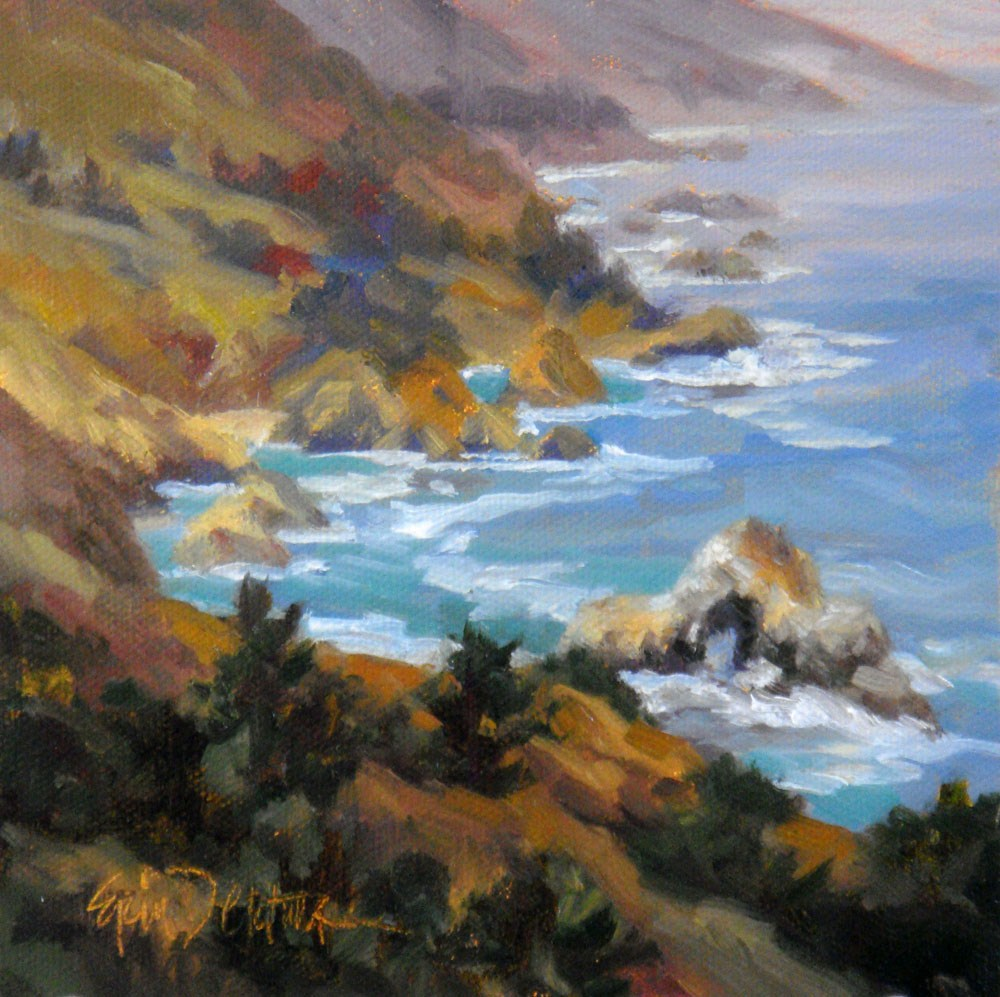"""Central Coast Overview"" original fine art by Erin Dertner"