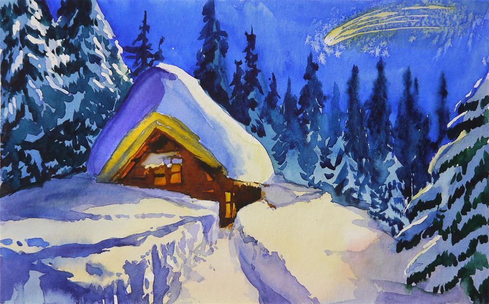 """Merry christmas!"" original fine art by Beata Musial-Tomaszewska"