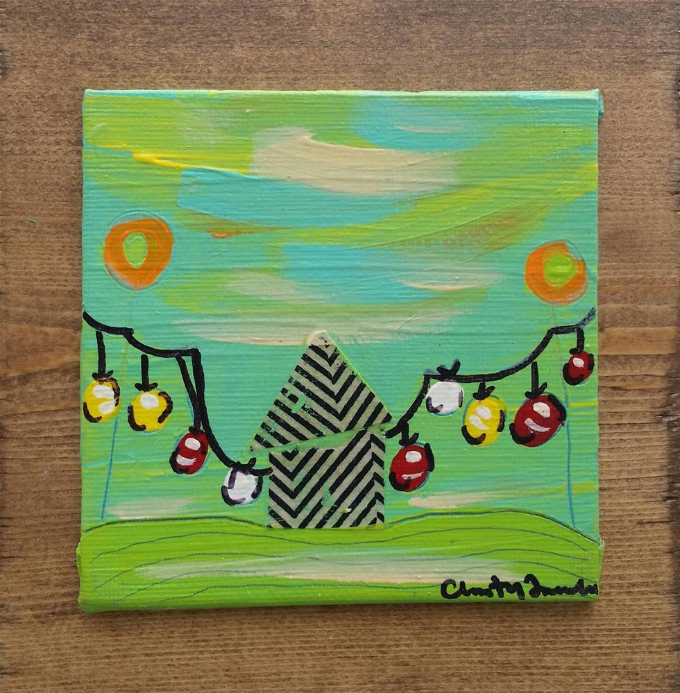 """Summer Lanterns 3 House # 91"" original fine art by Christy Tremblay"