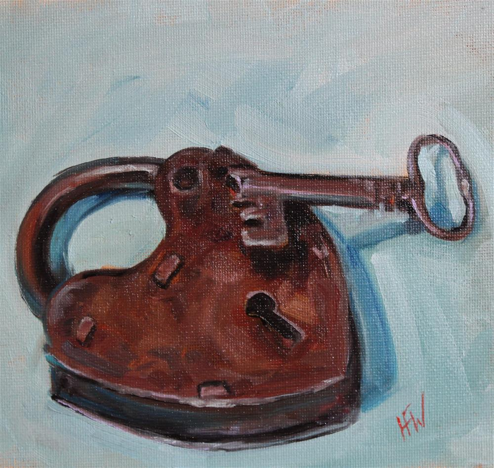 """Heart Shaped Lock"" original fine art by H.F. Wallen"