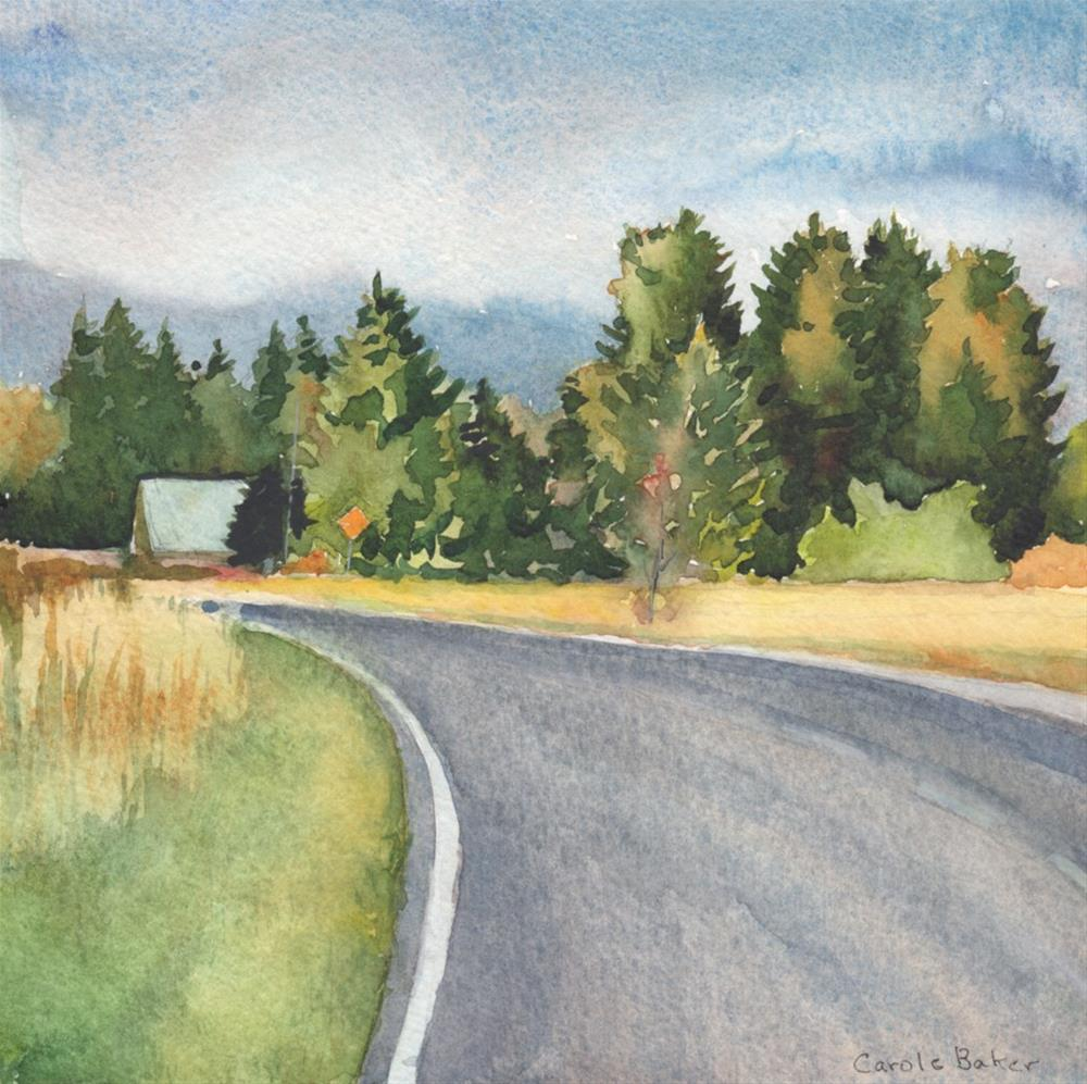 """Dock Road"" original fine art by Carole Baker"