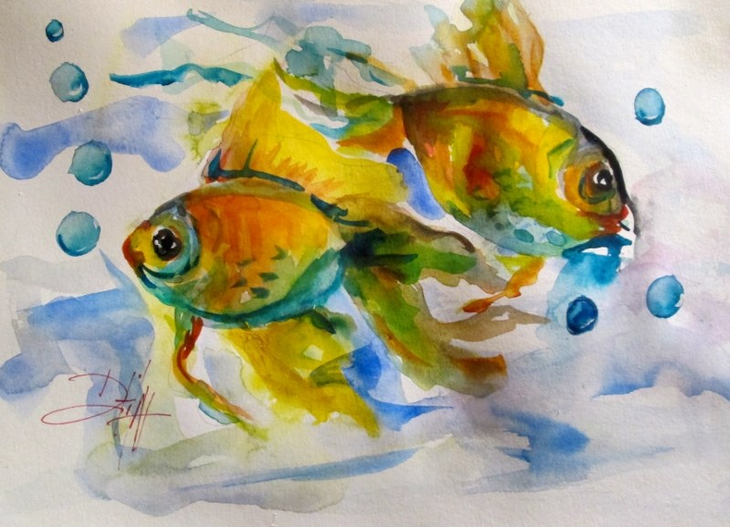 """Fish"" original fine art by Delilah Smith"