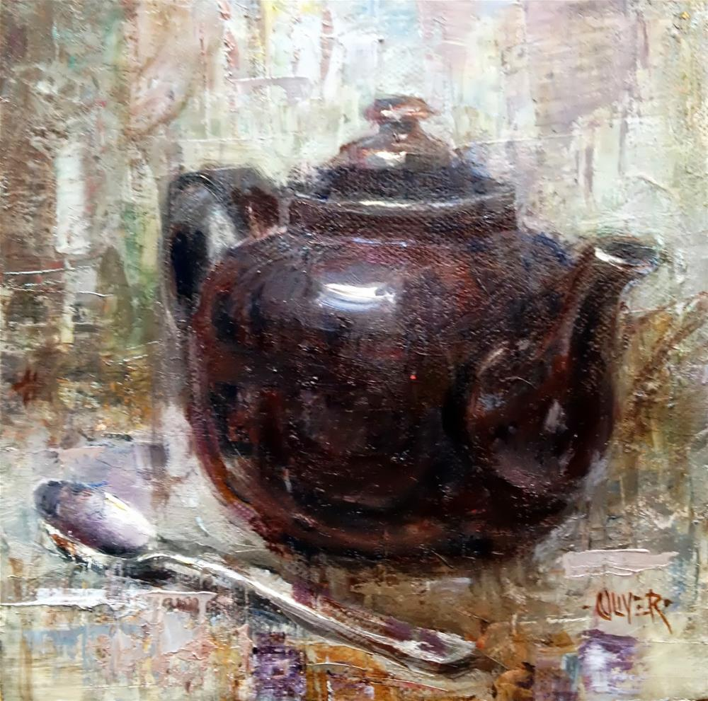 """Brown Betty"" original fine art by Julie Ford Oliver"