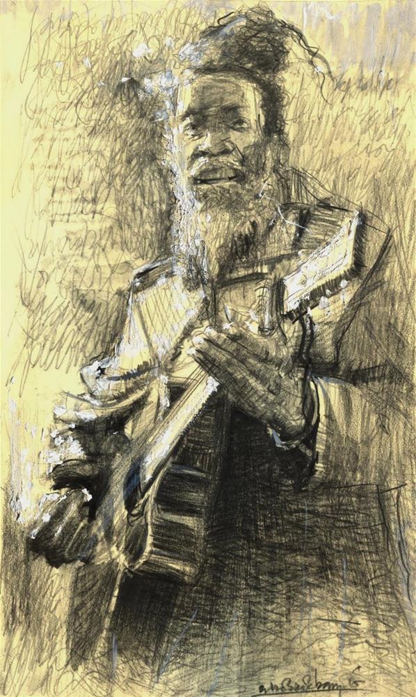 """""""Ja Rastafarah"""" original fine art by Adebanji Alade"""