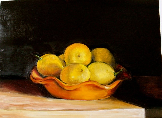 """Today's Lemons"" original fine art by Tamsen Armstrong"