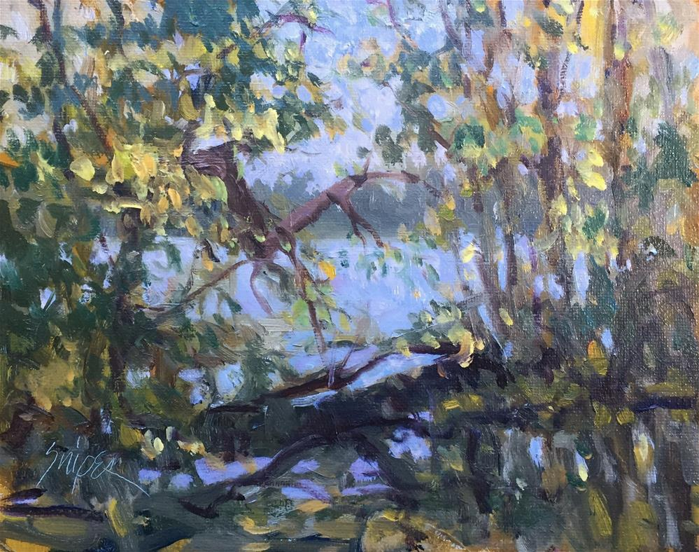 """At the Edge of the Pond"" original fine art by Connie Snipes"