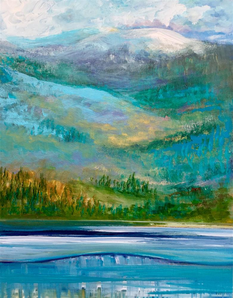 """6052 - Terrace Mountain"" original fine art by Sea Dean"