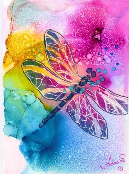 """""""Butterfly Delight"""" original fine art by Francine Dufour~Jones"""