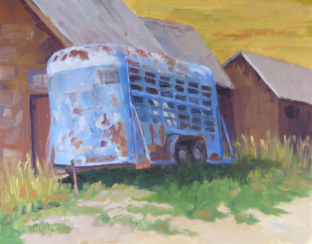 """Old Blue"" original fine art by Pam Holnback"
