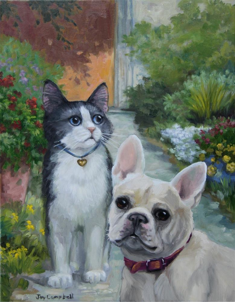 """Precious Pets"" original fine art by Joy Campbell"