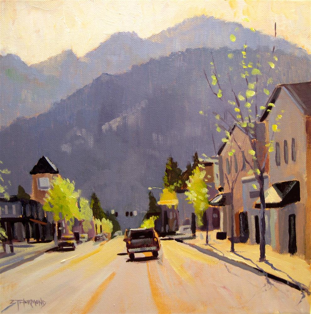 """Downtown Ketchum"" original fine art by Zack Thurmond"