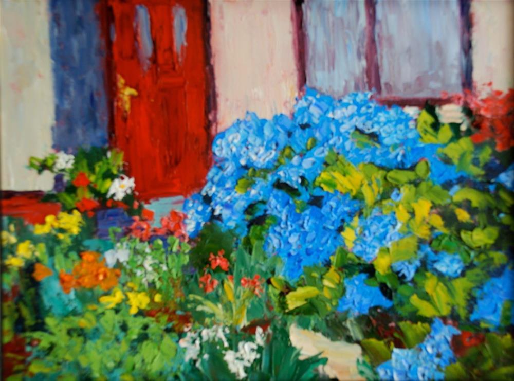 """""""Hydrangea Garden"""" original fine art by Liz Zornes"""