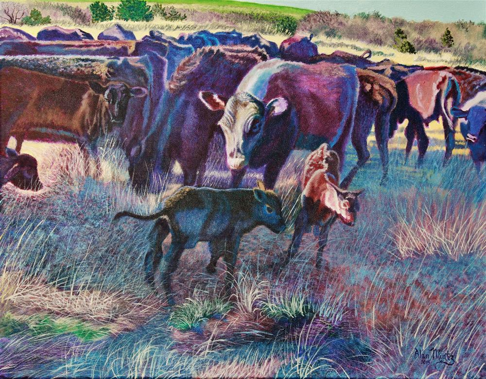 """Til The Cows Come Home"" original fine art by Alan Mintz"
