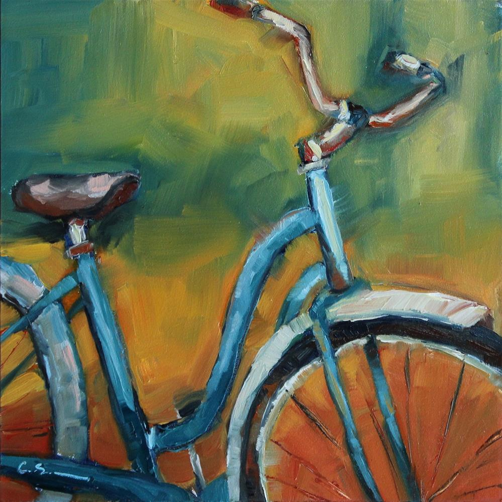 """Blue Cruiser"" original fine art by Corinne Slusser"